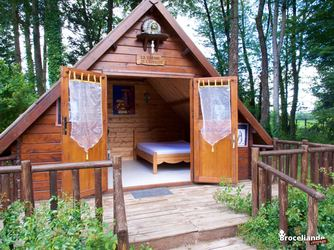 Cabane double - Camping d'Aleth